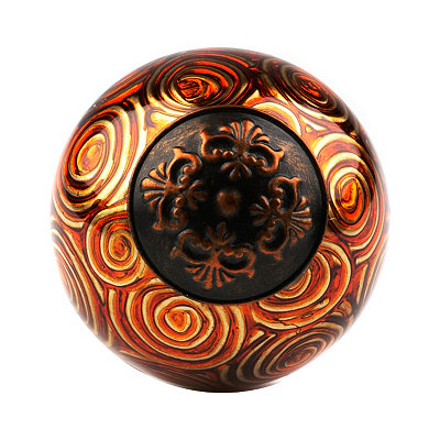 Orange & Gold Swirl Orb
