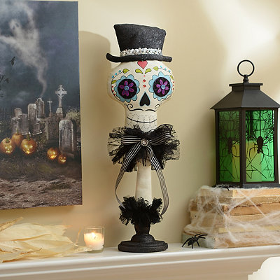 Day of the Dead Groom Skull Plush