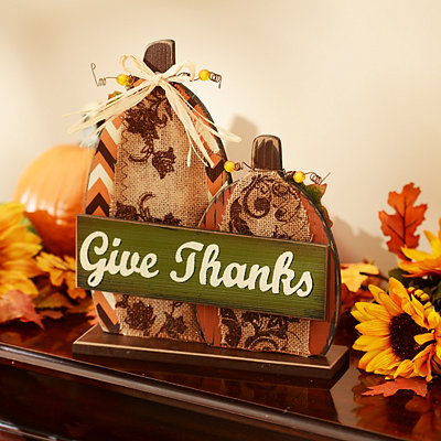 Give Thanks Pumpkin Statue