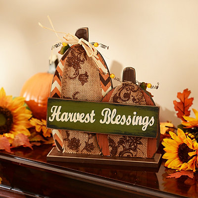 Harvest Blessings Pumpkin Statue