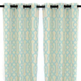 Aqua Gate Hill Curtain Panel Set, 108 in.