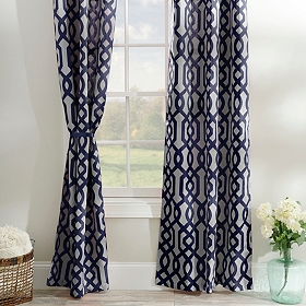 Navy Gate Hill Curtain Panel Set, 108 in.