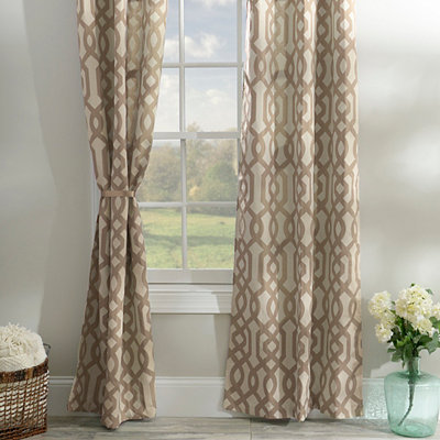Taupe Gate Hill Curtain Panel Set, 108 in.