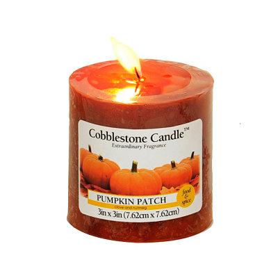 Pumpkin Patch Pillar Candle, 3in.