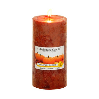 Pumpkin Patch Pillar Candle, 6in.