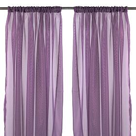 Karinna Purple Curtain Panel Set, 84 in.