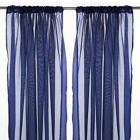 Karinna Navy Curtain Panel Set, 84 in.