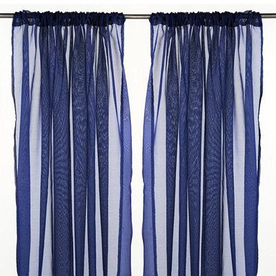 Karinna Navy Curtain Panel Set, 84 in.
