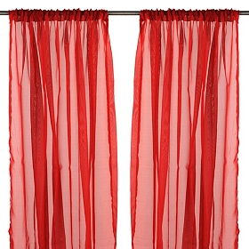 Karinna Red Curtain Panel Set, 84 in.