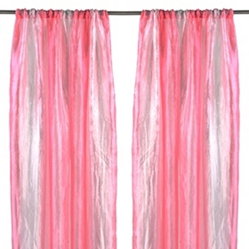 Pink Rainbow Crushed Curtain Panel Set, 63 in.