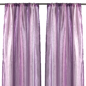 Purple Rainbow Crushed Curtain Panel Set, 63 in.
