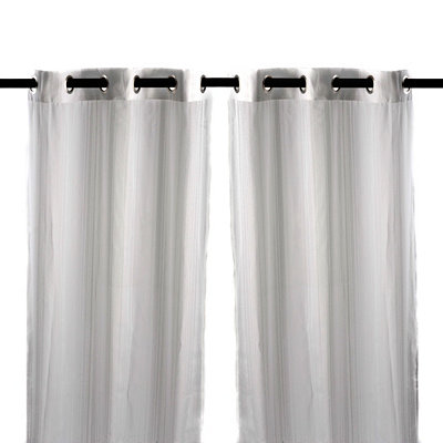 White Sea Breeze Curtain Panel Set, 84 in.