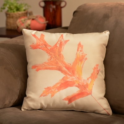 Watercolor Maple Leaf Pillow