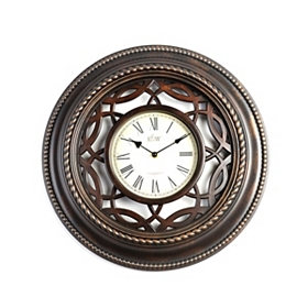 Bronze Lattice Cutout Wall Clock