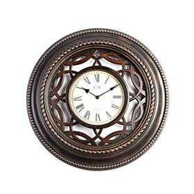 Bronze Lattice Cutout Wall Clock