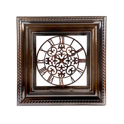 Antiqued Brown Remington Clock
