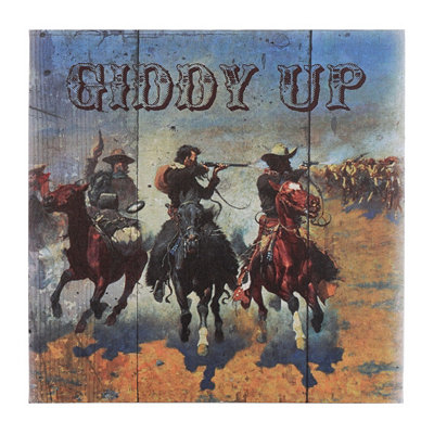 Giddy Up Canvas Art Print