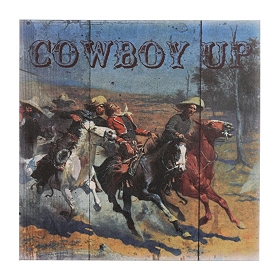 Cowboy Up Canvas Art Print