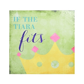 If the Tiara Fits Canvas Art Print