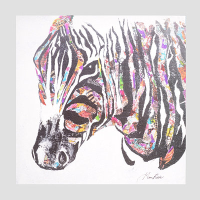 Safari Zebra Canvas Art Print