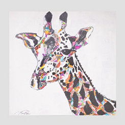 Safari Giraffe Canvas Art Print