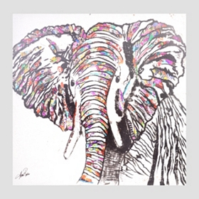 Safari Elephant Canvas Art Print