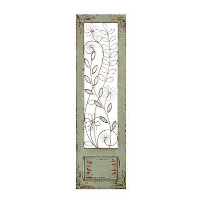 Distressed Mint Green II Panel Plaque