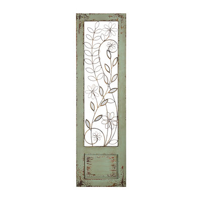 Distressed Mint Green I Panel Plaque