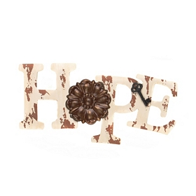 Distressed Ivory Hope Rustic Plaque
