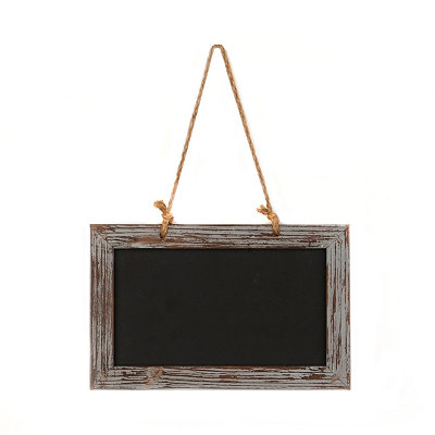 Distressed Gray Chalkboard Plaque