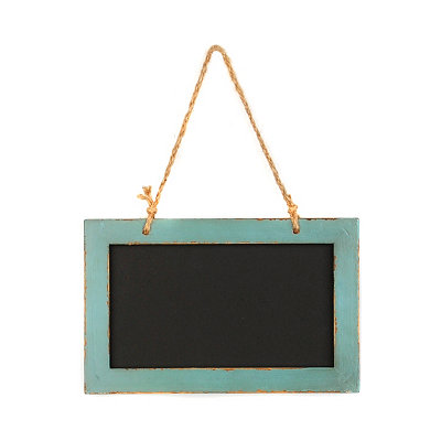 Distressed Teal Chalkboard Plaque