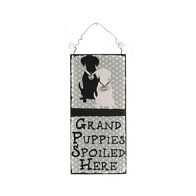 Puppies Spoiled Here Wall Plaque