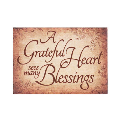 A Grateful Heart Canvas Plaque