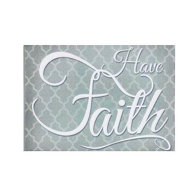 Have Faith Canvas Plaque