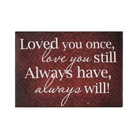Always Have, Always Will Canvas Plaque