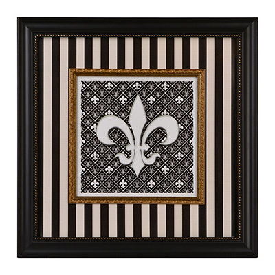 Regal Striped Fleur-de-lis Shadowbox