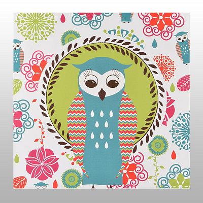 Glitzy Owl Canvas Art Print