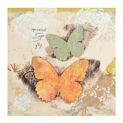 Butterfly Wishes I Canvas Art Print