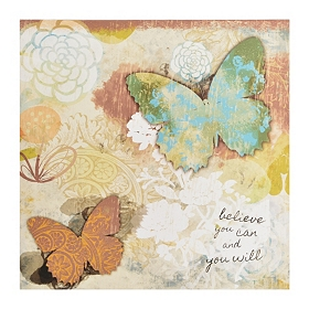 Butterfly Wishes II Canvas Art Print