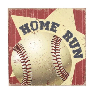 Red & White Home Run Canvas Art Print