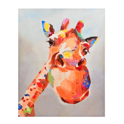 Playful Giraffe Canvas Art Print