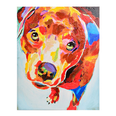Playful Puppy Canvas Art Print