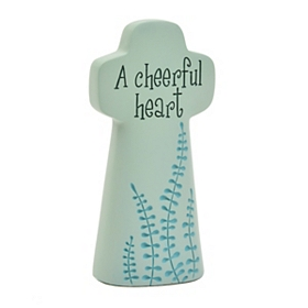 Cheerful Heart Cross Statue