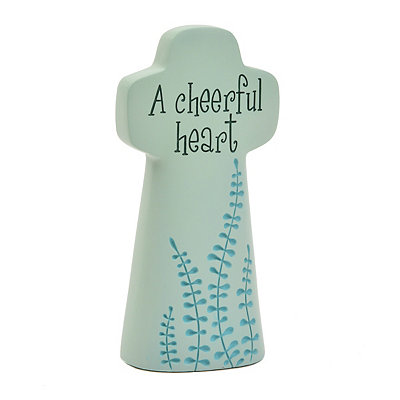 Cheerful Heart Cross Statue