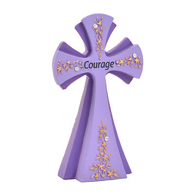 Purple Courage Cross Statue