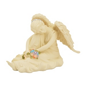 Resting Serenity Angel Statue