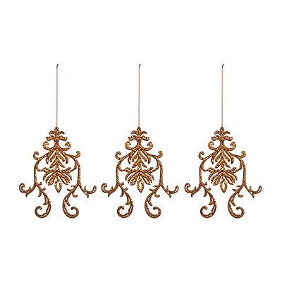 Bronze Medallion Ornaments, Set of 3