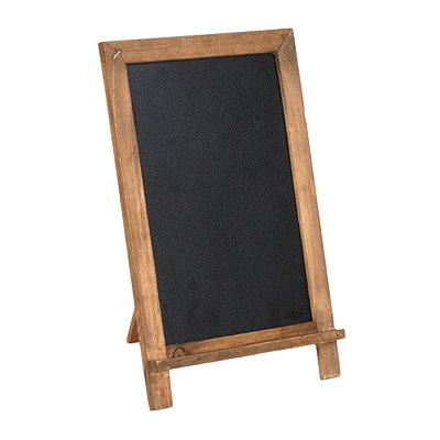 Distressed Wooden Chalkboard Easel