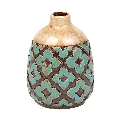 Aqua Moroccan Tile Vase