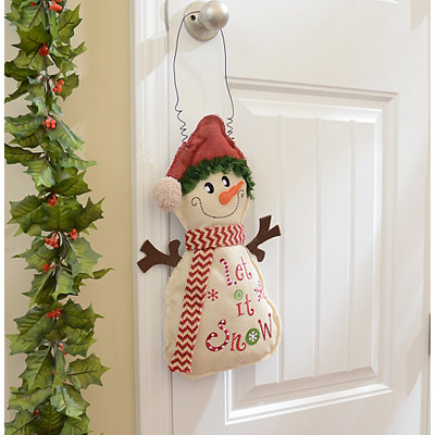 Let It Snow Burlap Wall Hanger